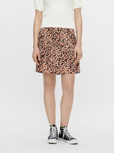 PIECES Skirt 'Nya' in Nude / Brown / Coral / Black: Frontal view