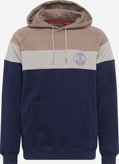 Derbe Sweat-shirt en bleu foncé / gris / taupe, Vue avec produit