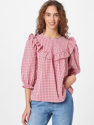 NEW LOOK Blouse 'FREYA' in Red / White, View model