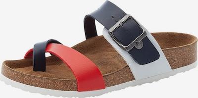 Flip-flops RIEKER pe albastru / roșu / alb, Vizualizare produs