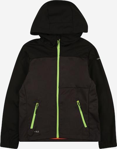 ICEPEAK Outdoorjas 'KARS' in de kleur Antraciet / Neongroen / Zwart, Productweergave