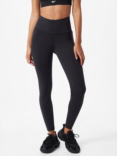 Reebok Sport Leggings in schwarz, Modelansicht