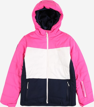 4F Jacke in navy / pink / weiß: Frontalansicht
