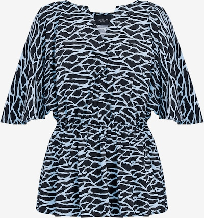 Finn Flare Kurzarm-Bluse in dunkelblau, Produktansicht