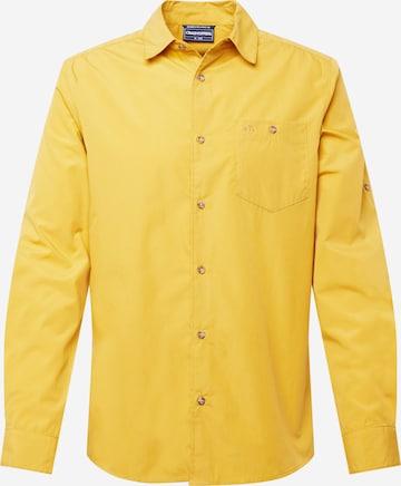 CRAGHOPPERS Funktsionaalne särk 'Kiwi Ridge', värv kollane