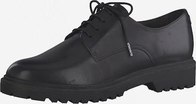 TAMARIS Čevlji na vezalke | črna barva, Prikaz izdelka