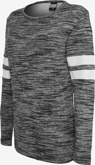 Urban Classics Sweatshirt 'Terry' in graumeliert / weiß, Produktansicht