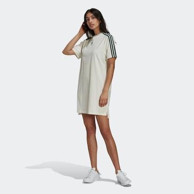 ADIDAS ORIGINALS T-Shirt-Kleid in grün / weiß, Modelansicht