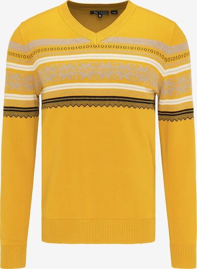 MO Pullover in gelb / grau / schwarz / weiß, Produktansicht