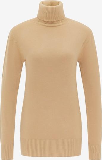 DreiMaster Klassik Pullover in hellbraun, Produktansicht