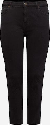 PIECES Curve Jeans 'Luna' in Schwarz