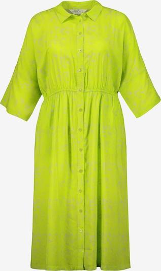 Studio Untold Robe-chemise en gris / citron vert, Vue avec produit