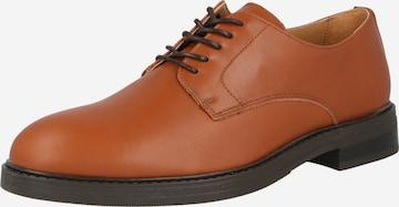 SELECTED HOMME Обувки с връзки 'BLAKE' в кафяво