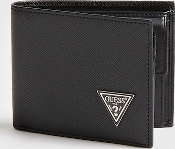 GUESS Wallet 'CERTOSA SAFFIANO' in Black