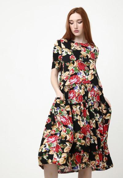 Madam-T Kleid 'Pamela' in mischfarben / schwarz, Modelansicht