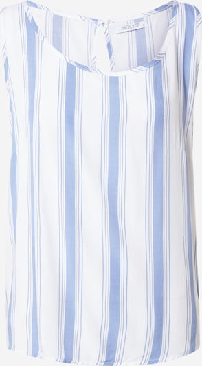 Hailys Топ 'Robina' в опушено синьо / бяло: Изглед отпред