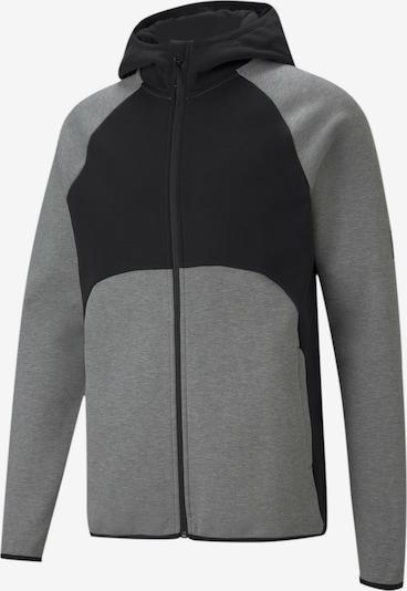 PUMA Sportsweatshirt in grau / schwarz, Produktansicht
