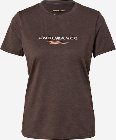 ENDURANCE Sportshirt 'Wange' in braun / orange / schwarzmeliert / weiß, Produktansicht
