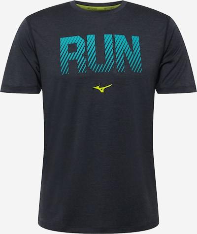 MIZUNO Sportshirt in himmelblau / gelb / schwarz, Produktansicht