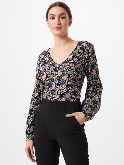 JDY Shirt 'KATE' in blau / pink / schwarz, Modelansicht
