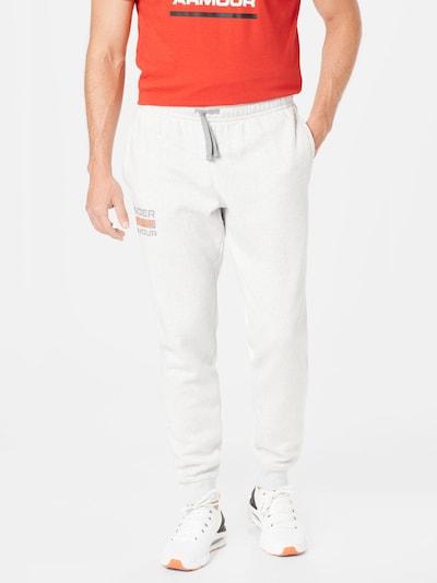 Pantaloni sport 'Rival' UNDER ARMOUR pe gri închis / gri amestecat / roșu deschis, Vizualizare model