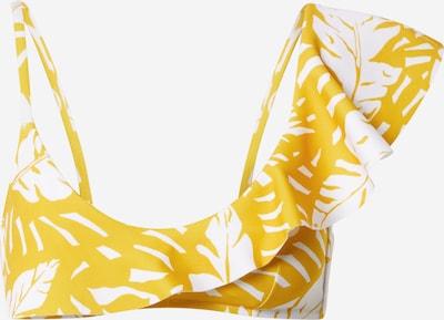 watercult Bikinitop in goldgelb / weiß, Produktansicht