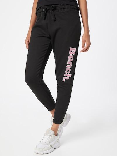 BENCH Панталон 'MANDI' в бледорозово / черно / бяло: Изглед отпред