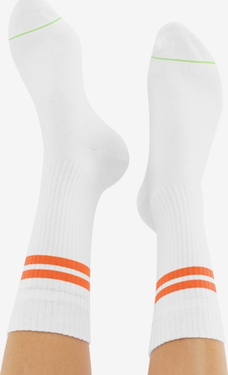 CHEERIO* Socken 'TENNIS TYPE' in orange / weiß: Rückansicht