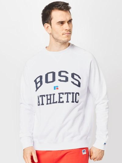 BOSS Casual Блузон с качулка в бяло: Изглед отпред