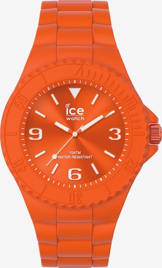 ICE WATCH Uhr in dunkelorange / weiß, Produktansicht