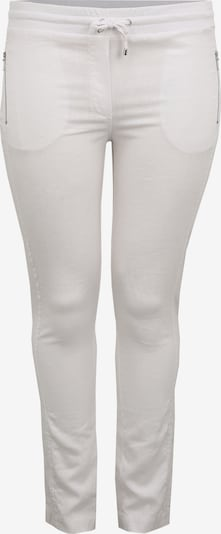 Doris Streich Leinenhose mit Reißverschlusstaschen in weiß, Produktansicht
