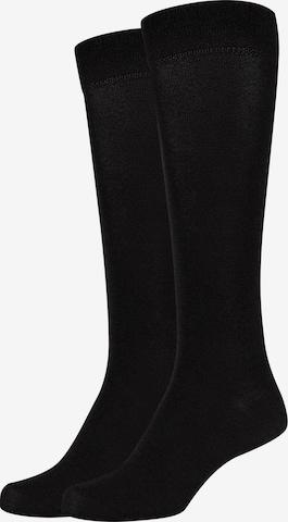 camano Knee High Socks 'ca-soft Wool' in Black