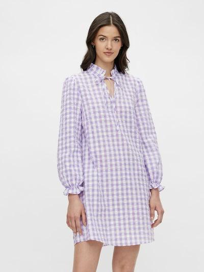 PIECES Robe-chemise en violet / blanc: Vue de face