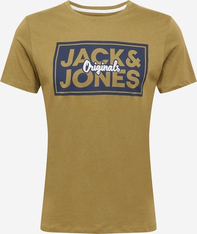 JACK & JONES T-Krekls, krāsa - tumši zils / olīvzaļš / balts, Preces skats
