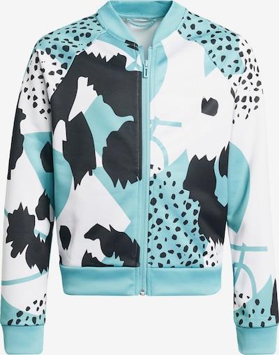 ADIDAS PERFORMANCE Sportjas in de kleur Lichtblauw / Zwart / Wit, Productweergave