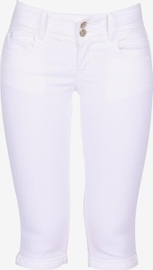 Le Temps Des Cerises 3/4-Hose MILY mit elegantem Doppelknopfverschluss in weiß, Produktansicht
