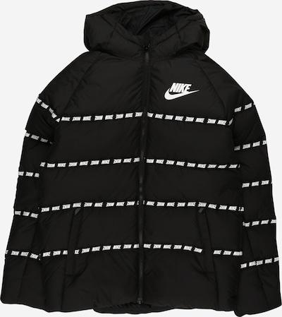 Nike Sportswear Zimska jakna | črna / bela barva, Prikaz izdelka
