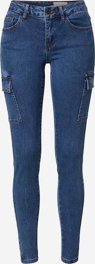 Noisy may Jeans cargo en bleu denim, Vue avec produit