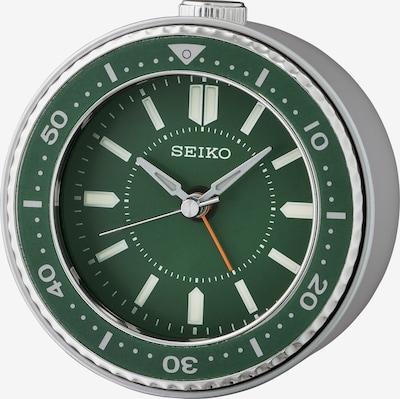 SEIKO Wecker in grasgrün / silber, Produktansicht