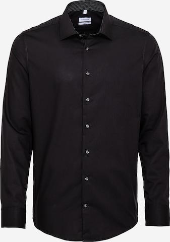 melns SEIDENSTICKER Biroja krekls