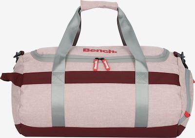 BENCH Sporttas in de kleur Grijs / Oudroze / Bourgogne, Productweergave