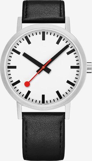 Mondaine Unisex-Uhren Analog Quarz ' ' in schwarz / silber, Produktansicht