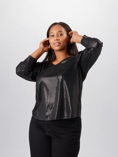 Zizzi Bluse in schwarz, Modelansicht