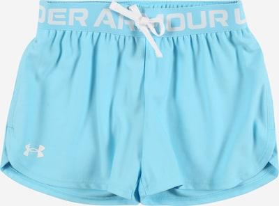UNDER ARMOUR Pantalon de sport 'Play Up' en turquoise / blanc, Vue avec produit