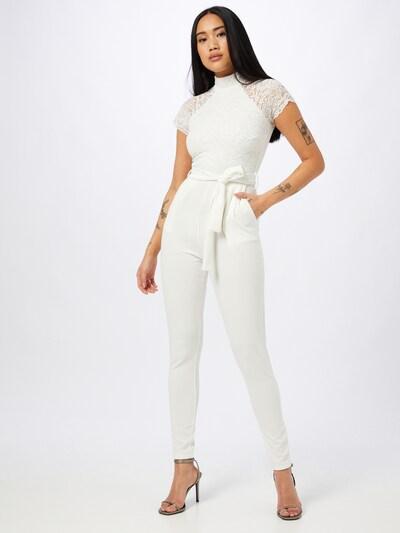 Tuta jumpsuit 'MACE' WAL G. di colore bianco, Visualizzazione modelli