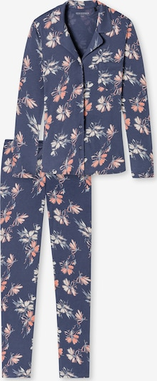 SCHIESSER Langarm Pyjama ' Feminine Floral ' in blau, Produktansicht