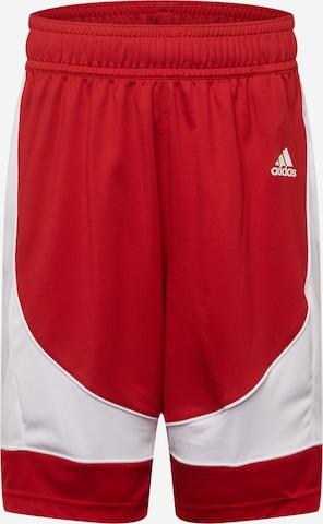 ADIDAS PERFORMANCE Sportsbukser i rød