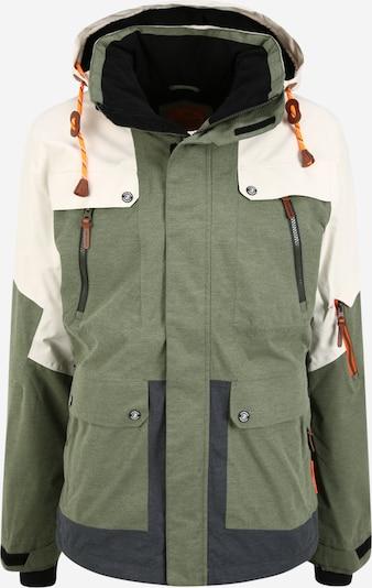 ICEPEAK Outdoorová bunda 'Keeton' - tmavě šedá / olivová / bílá, Produkt
