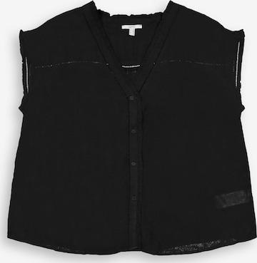 Esprit Curves Bluse in Schwarz