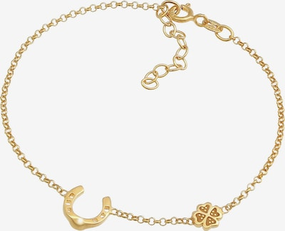 Nenalina Armband Hufeisen, Kleeblatt in gold, Produktansicht